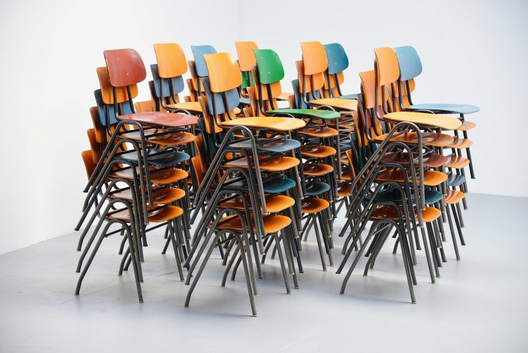 Stacking chairs set by Mauser Germany 1970