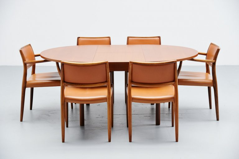 Teak danish oval dining table Denmark 1960