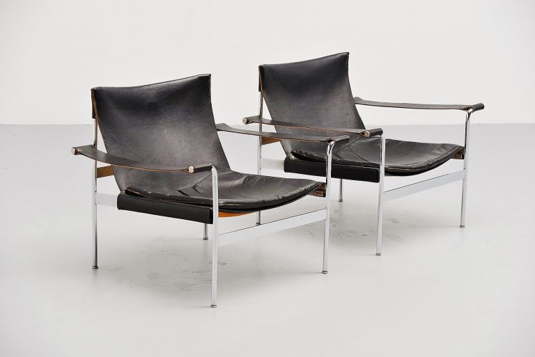 Hans Konecke Tecta lounge chairs Germany 1954