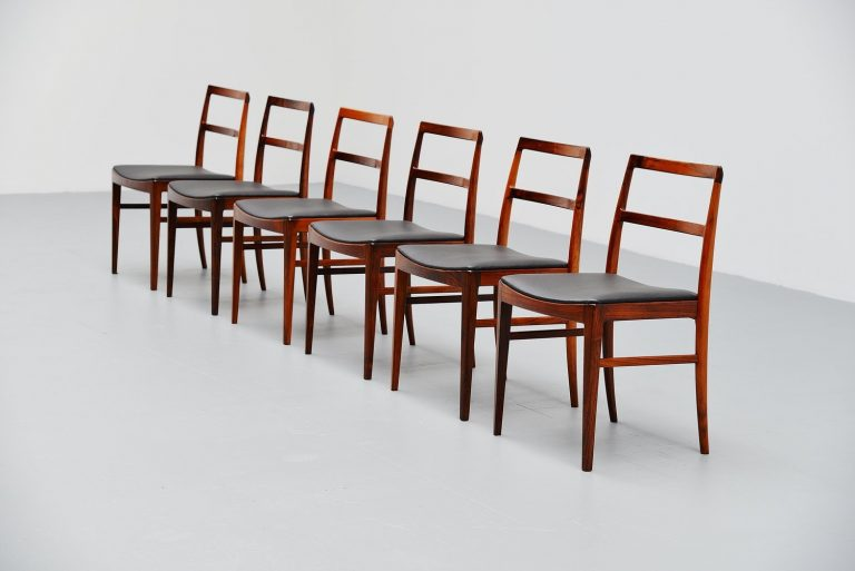 Arne Vodder 6 dining chairs Model 430 Sibast 1960