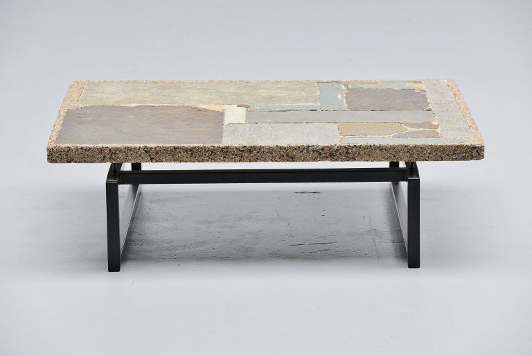 Paul Kingma coffee table abstract artwork Holland 1962