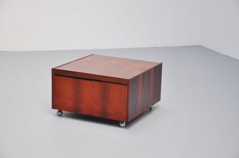 Danish rosewood bar cabinet Dyrlund 1960