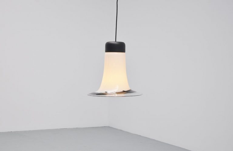 Peil & Pultzer pendant lamp in blown glass Germany 1970