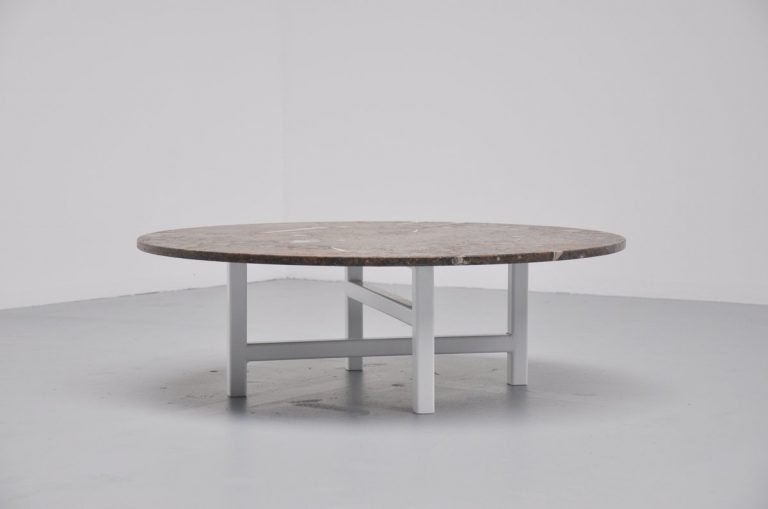 Heinz Lilienthal fossil stone coffee table Germany 1970