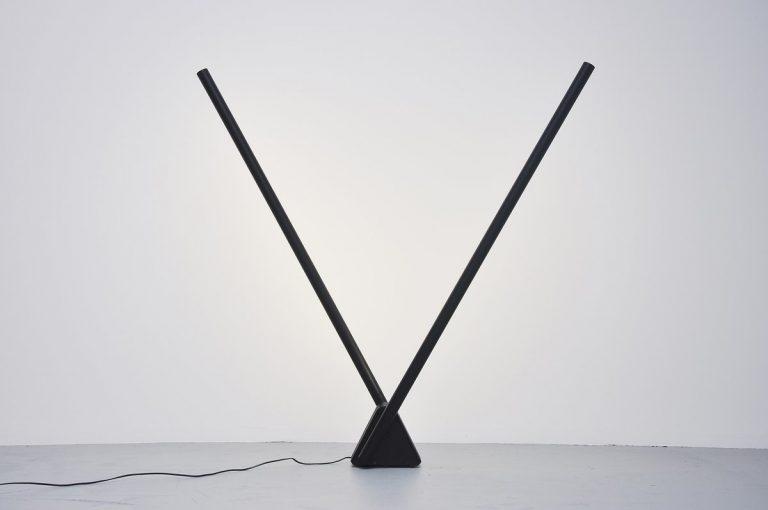 Rodolfo Bonetto Systema flu multi lamp for Luci Italy 1981