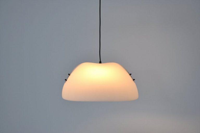 Vico Magistretti Oluce Melilia ceiling lamp 1970