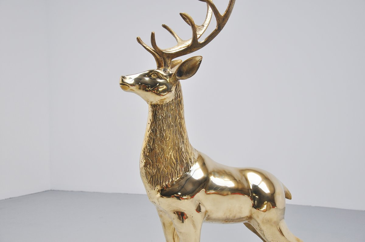 Clean And Shiny >> Large bronze deer sculpture Italy 1970 – MassModernDesign