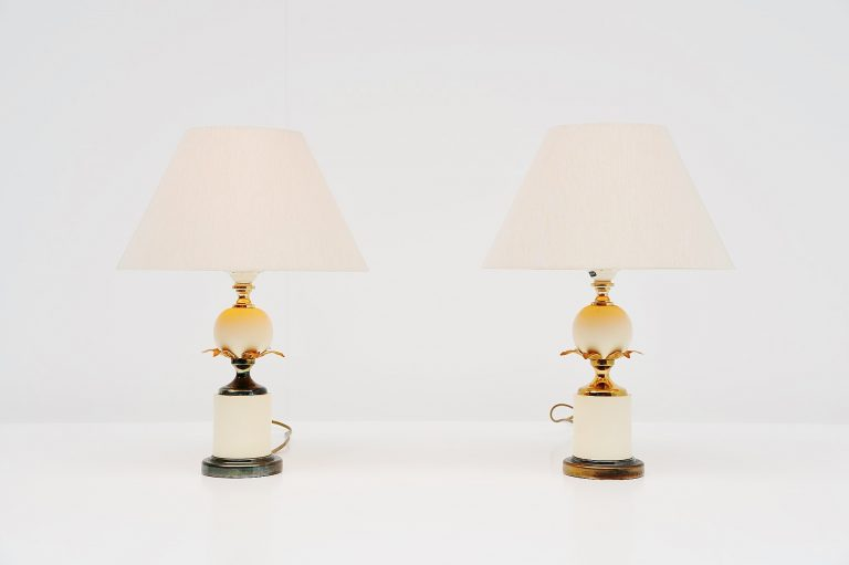 Maison Charles pineapple table lamps France 1970