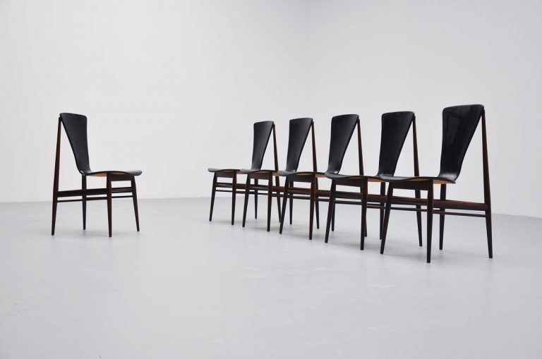 Inger Klingenberg dining chairs in Rosewood 1959