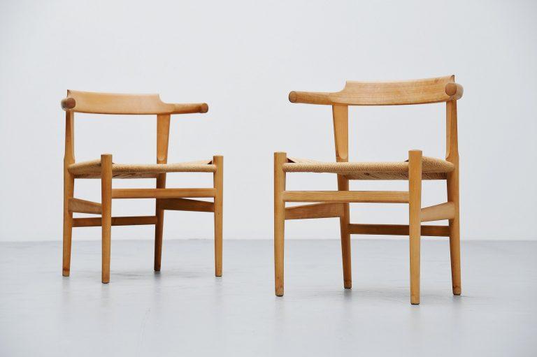 Hans Wegner PP68 chairs pair PP Møbler Denmark 1987