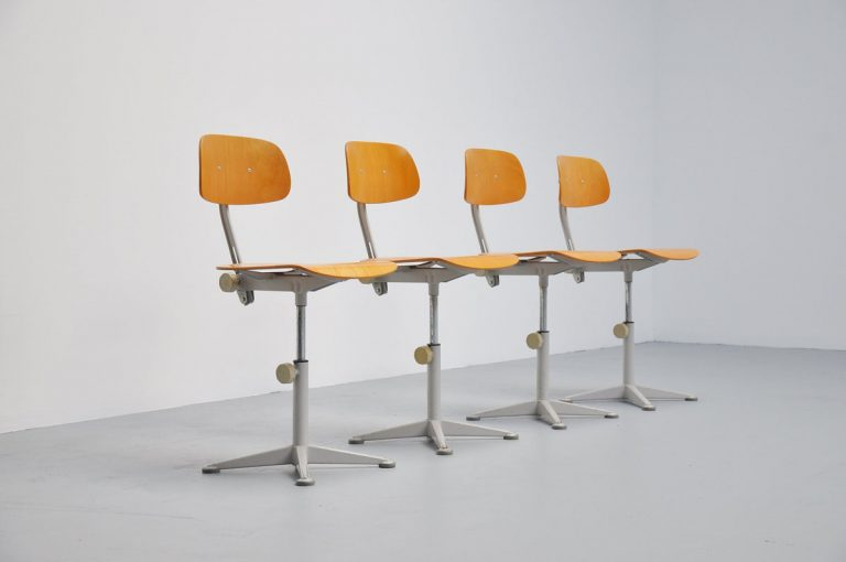 Friso Kramer set of drafting chairs 1963
