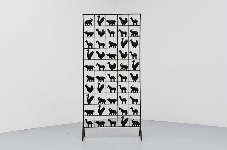 Atelier Marolles animal screen room divider France 1955