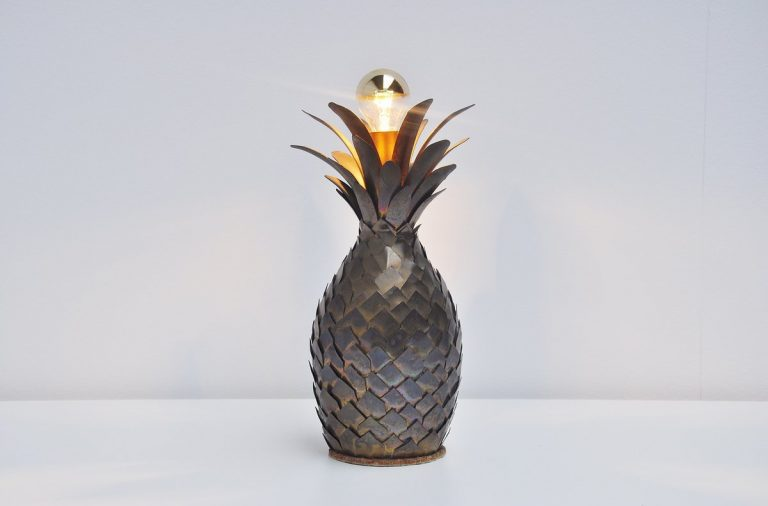 Maison Jansen pineapple table lamp France 1970