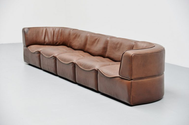 De Sede DS15 element sofa in buffalo leather Switzerland 1970