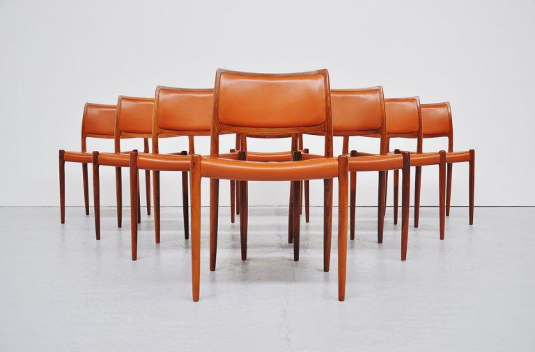Niels Moller #80 Rosewood chairs 1966