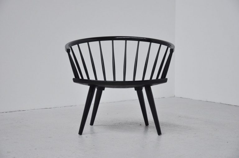 Yngve Ekstrom Arka chair pair Sweden 1955