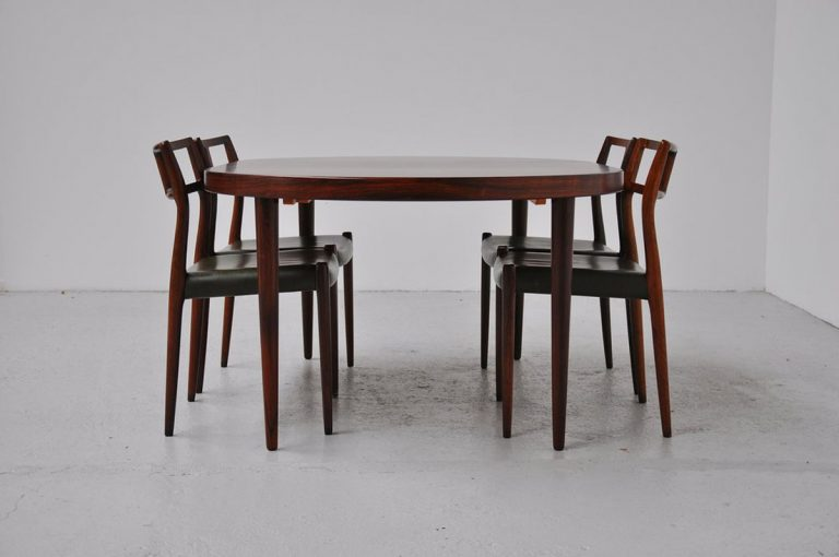 Kai Kristiansen oval dining table FM 1960
