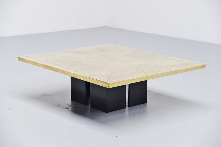 Christian Heckscher etched coffee table Belgium 1972