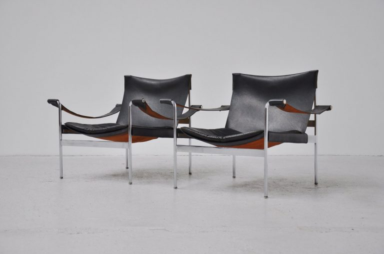 Hans Konecke Tecta easy chairs pair 1965