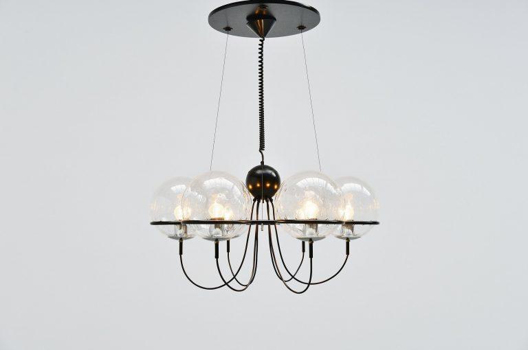 Raak Saturnus chandelier Amsterdam Holland 1975