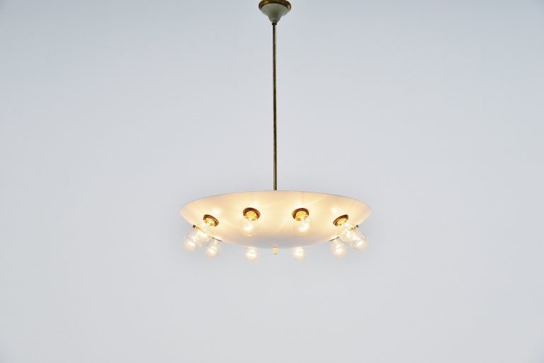 Stilnovo attributed chandelier Italy 1950