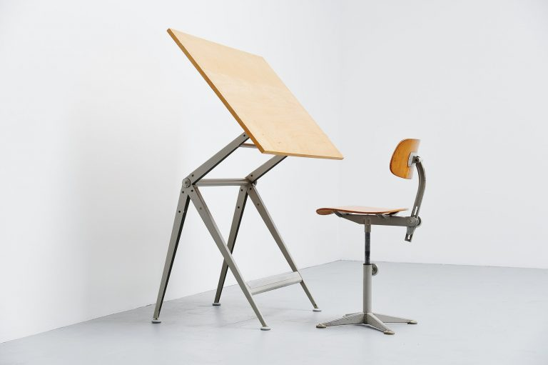 Wim Rietveld Friso Kramer Reply drafting table Holland 1963