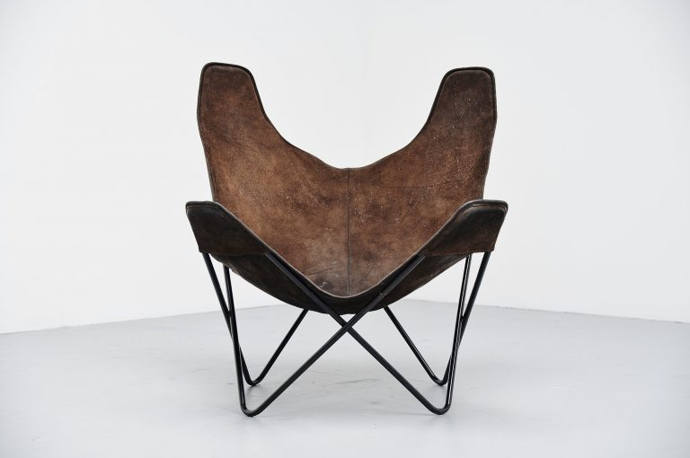 Jorge Hardoy Ferrari butterfly chair brown for Knoll 1970