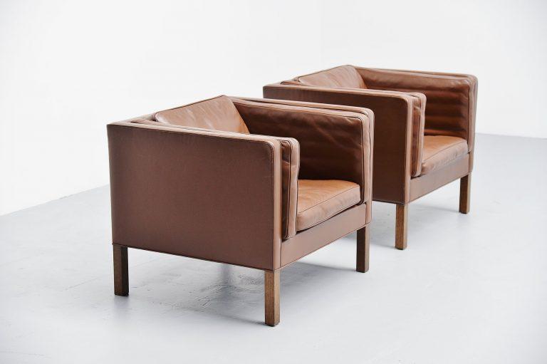 Borge Mogensen easy chairs 2334 Fredericia Denmark 1971
