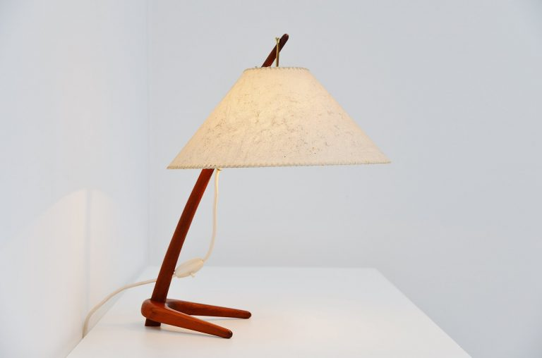 J.T. Kalmar Dornstab table lamp Austria 1947