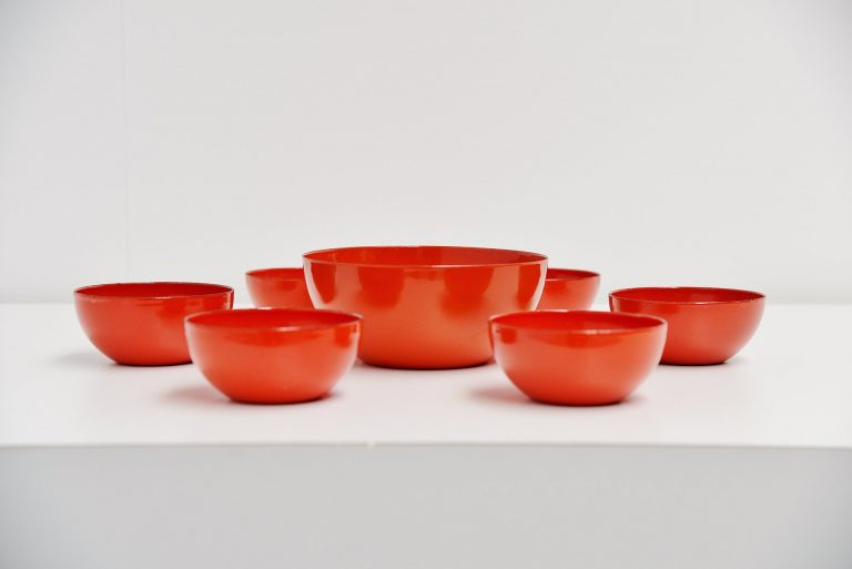 Arabia Finel bowl set by Kaj Franck Finland 1960