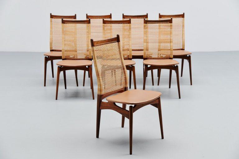 Jos de Mey dining chairs Van Den Berghe Pauvers Belgium 1957