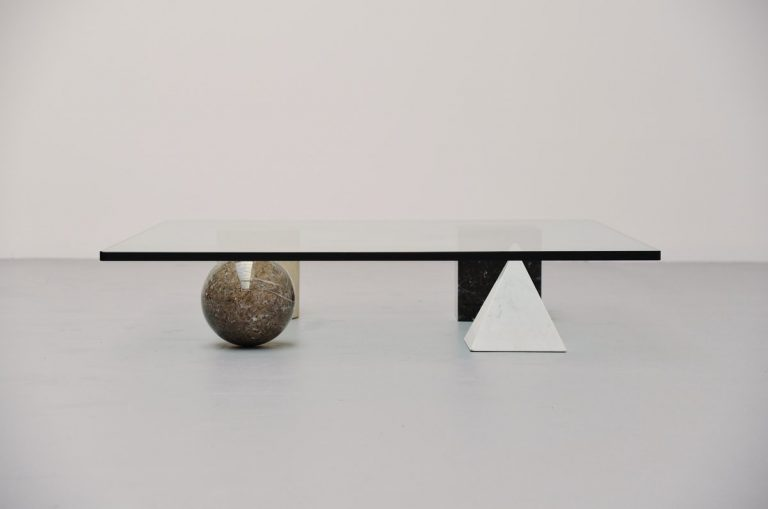 Lella & Massimo Vignelli Metaphora table for Casigliani 1979