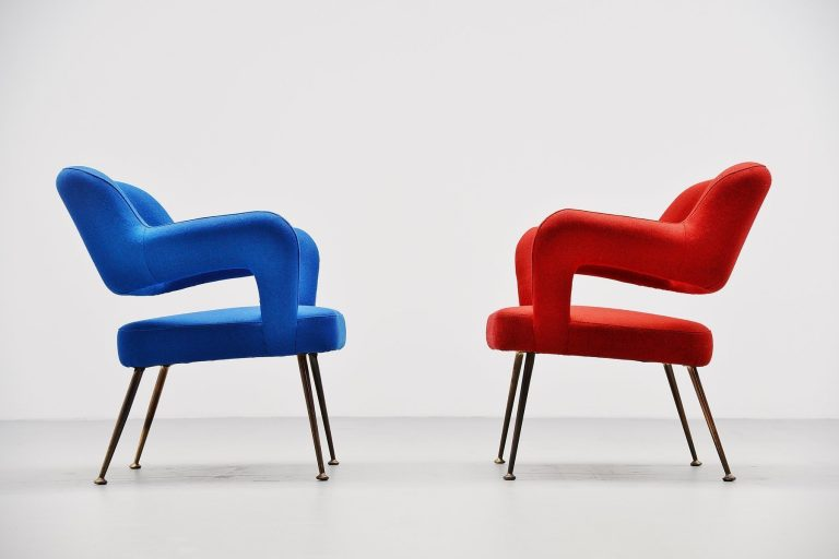 Gastone Rinaldi easy chairs for Rima Italy 1953