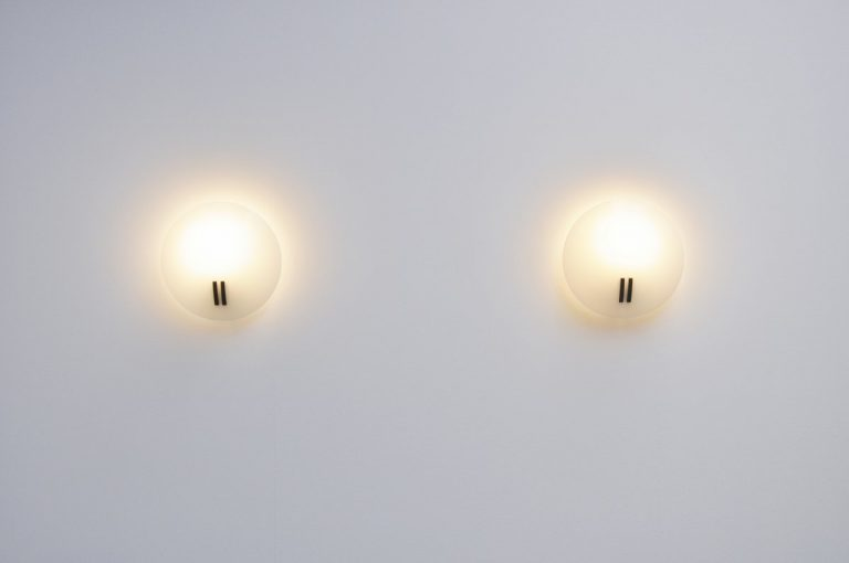 Bruno Gecchelin Perla 731 sconces Oluce 1986