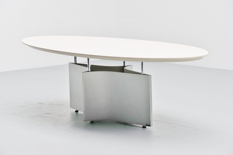 Mauro Lipparini dining table for Saporiti Italy 1990