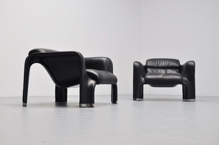 Pekka Perjo Pohjola lounge chairs for Haimi Oy Finland 1965