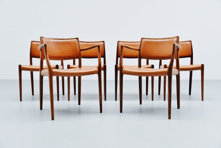 Niels Moller dining chairs Model 80 rosewood Denmark 1966