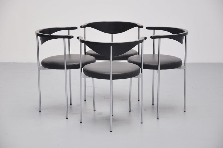 Frederik Sieck dining chairs for Fritz Hansen 1960