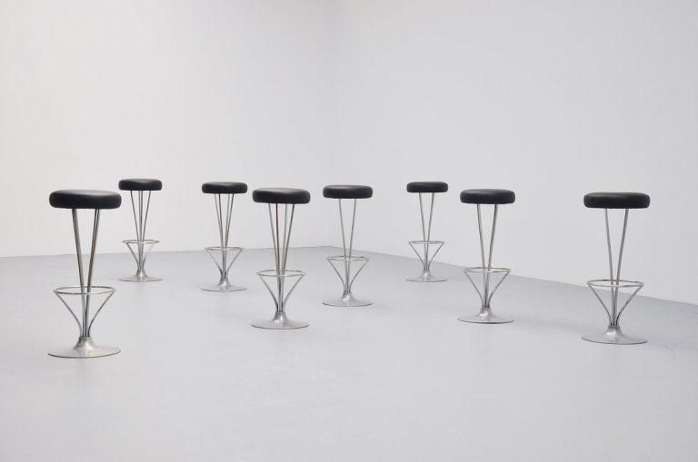 Piet Hein bar stools for Fritz Hansen Denmark 1985