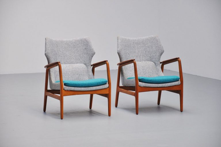 Aksel Bender Madsen Bovenkamp lounge chairs pair 1960