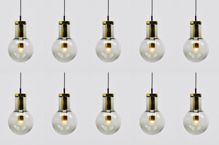 Raak Maxi globe lamps set model L Amsterdam 1965