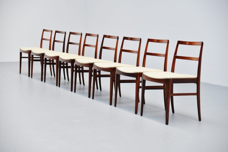 Arne Vodder dining chairs in rosewood model 430 Sibast Mobler 1960