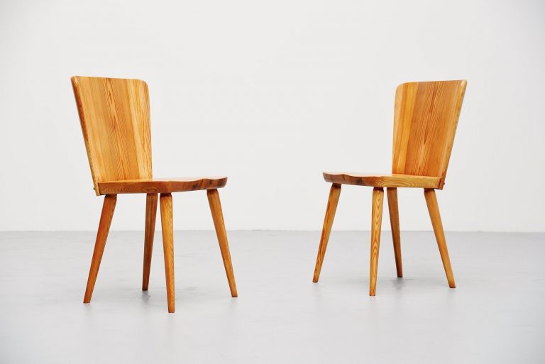 Carl malmsten side chairs pair Svensk Fur Sweden 1940