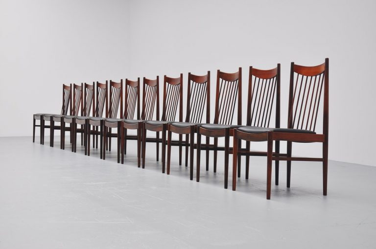 Arne Vodder high back dining chairs Sibast 1960