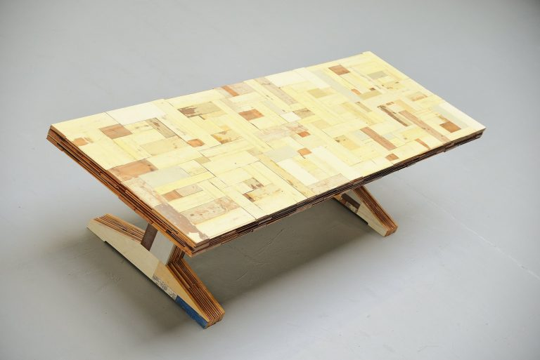 Piet Hein Eek waste scrapwood table Holland 2001