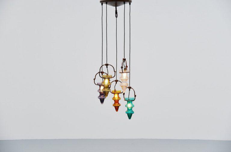 Nanny Still Raak stalactites chandelier Holland 1960