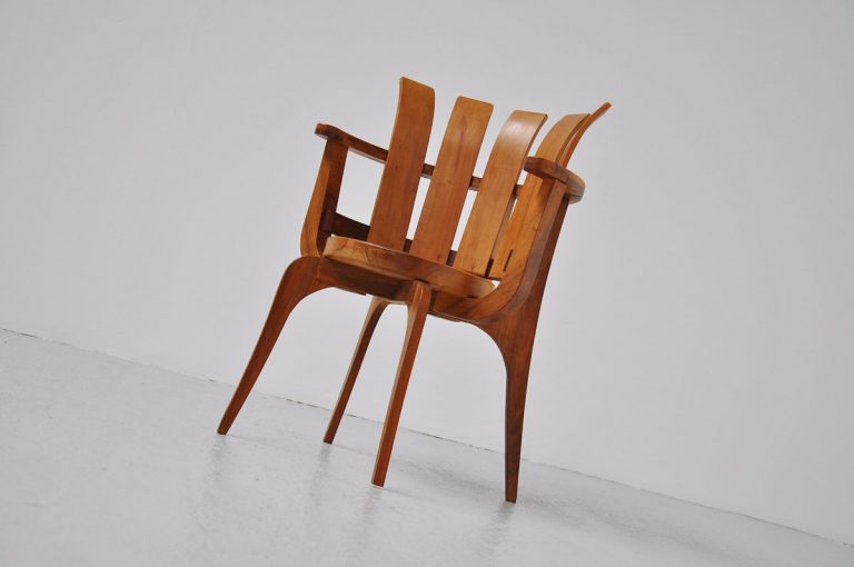 Brazillian side chair in walnut 1960