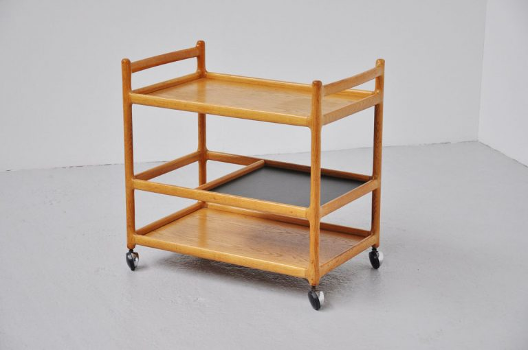 Johannes Andersen tea cart in oak 1960