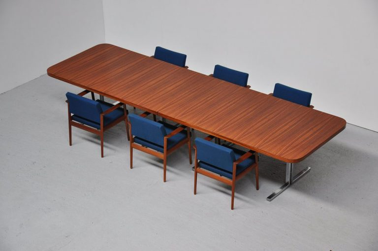 Massive conference table 400 cm ca 1960