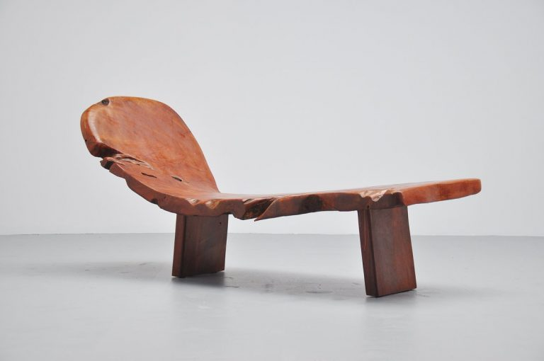 Tree trunk chaise lounge Holland 1970